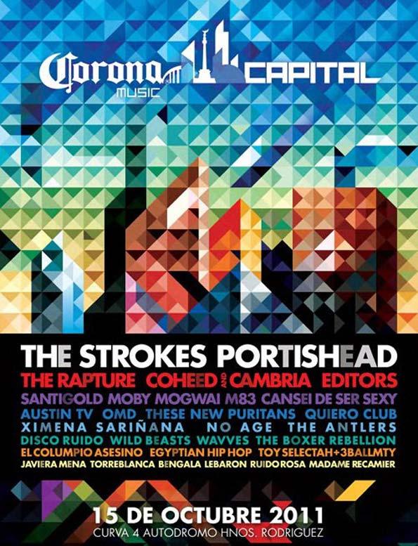 Horarios Cartel Festival Corona Capital 2011 1